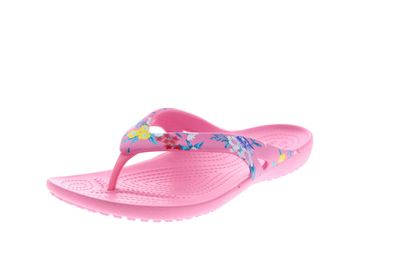 CROCS  - KADEE II PRINTED FLIP - tropical floral pink lemonade