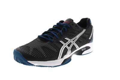 ASICS in Übergröße GEL SOLUTION SPEED 2 CLAY E401Y onyx silver