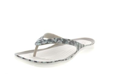 CROCS Damenschuhe SWIFTWATER PRINTED FLIP - geo white
