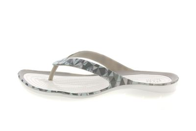 CROCS Damenschuhe SWIFTWATER PRINTED FLIP - geo white preview 2
