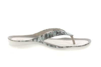 CROCS Damenschuhe SWIFTWATER PRINTED FLIP - geo white preview 4