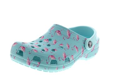 CROCS Clogs CLASSIC SEASONAL GRAPHIC ice blue pink
