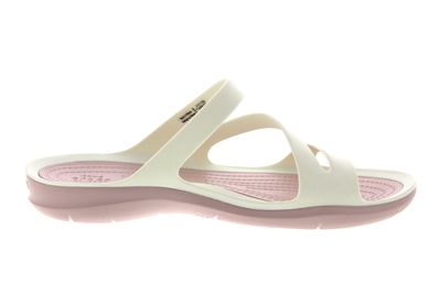 CROCS Damenschuhe - SWIFTWATER SANDAL - white rose dust preview 4