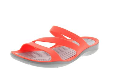 CROCS Damenschuhe SWIFTWATER SANDAL bright coral grey