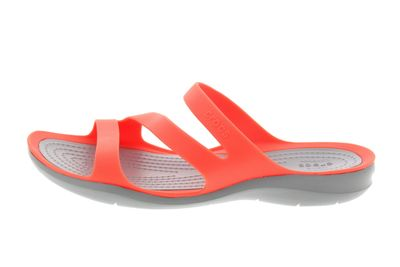 CROCS Damenschuhe SWIFTWATER SANDAL bright coral grey preview 2