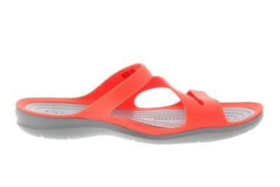 CROCS Damenschuhe SWIFTWATER SANDAL bright coral grey preview 4