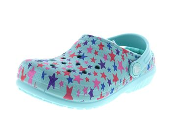 CROCS Kinderschuhe  Classic Printed Lined Clog ice blue