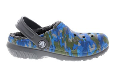 CROCS Kinderschuhe  Classic Printed Lined Clog charcoal preview 4