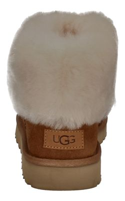 UGG Damenschuhe Stiefeletten CLASSIC MINI FLUFF chestnut preview 5