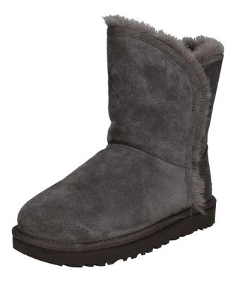 UGG - CLASSIC SHORT FLUFF HIGH LOW 1103746 - charcoal