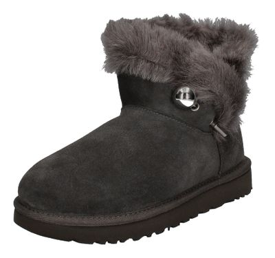UGG Stiefeletten CLASSIC FLUFF PIN MINI 1105609 charcoal preview 1