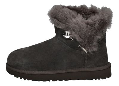 UGG Stiefeletten CLASSIC FLUFF PIN MINI 1105609 charcoal preview 2