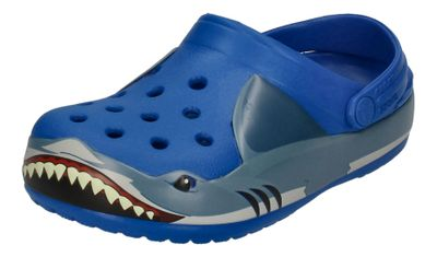 CROCS Kinderschuhe FunLab SHARK BAND CLOG bright cobalt