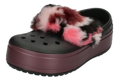 CROCS - CROCBAND PLATFORM SO LUXE CLOG - black burgundy
