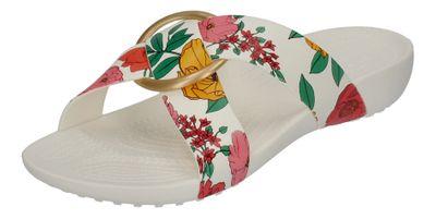 CROCS - SERENA PRINTED CROSSBAND SLIDE - floral white