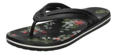 CROCS - CROCBAND BOTANICAL PRINT FLIP - black tropical