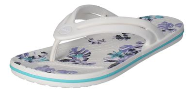 CROCS - CROCBAND BOTANICAL PRINT FLIP - white tropical