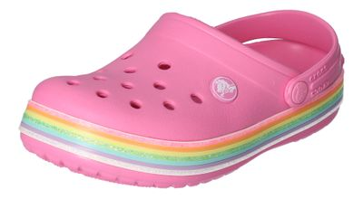 CROCS Kinder CROCBAND RAINBOW GLITTER CLOG pink lemonade preview 1