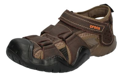 CROCS Herren - SWIFTWATER LEATHER FISHERMAN - espresso