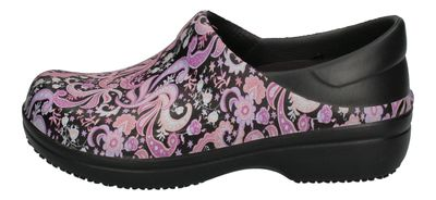 CROCS WORK - NERIA Pro II Graphic black paisley floral preview 2