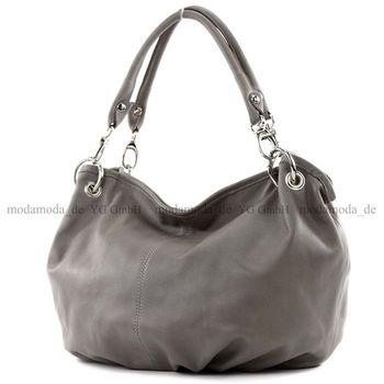 modamoda de - IT40 -  ital Damenhandtasche aus Nappaleder  – Bild 4
