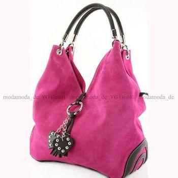 modamoda de - W38 -  ital Handtasche aus Wildleder  – Bild 15