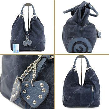 modamoda de - W38 -  ital Handtasche aus Wildleder  – Bild 24