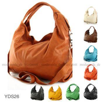 modamoda de - ital Damenhandtasche aus Nappaleder DS26