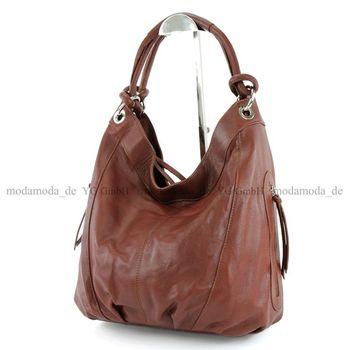 modamoda de - ital Damenhandtasche aus Leder/Nappaleder Z18 – Bild 14