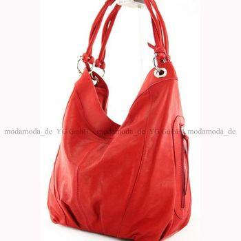 modamoda de - ital Damenhandtasche aus Leder/Nappaleder Z18 – Bild 24