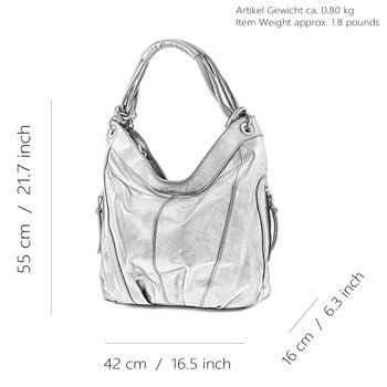 modamoda de - ital Damenhandtasche aus Leder/Nappaleder Z18 – Bild 4