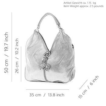 modamoda de - 330 - ital Handtasche Shopper Schultertasche Leder  – Bild 2