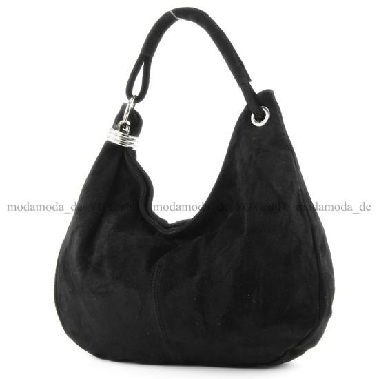 ital. Damentasche Tasche Wildleder Ledertasche Schultertasche Shopper Groß 20T