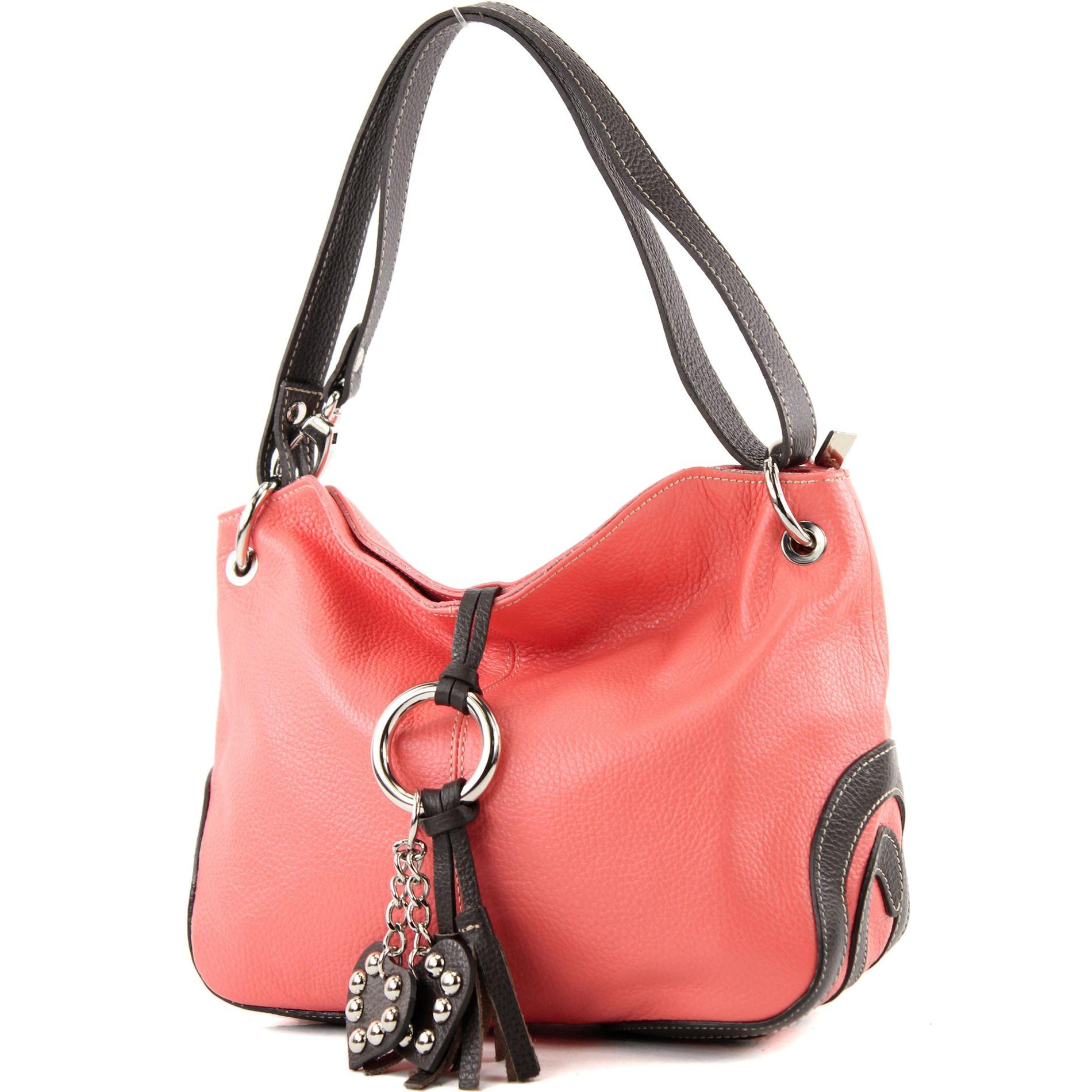 Handtasche Ledertasche Tragetasche Echt Leder kleine Damenhandtasche 331 ital