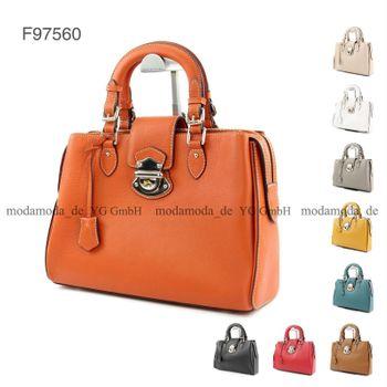 modamoda de - ital Handtasche abschließbar aus Leder F97560