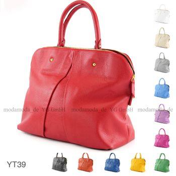 modamoda de - ital Handtasche aus Echt Leder T39