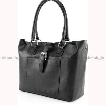 modamoda de - T41 -  ital Shopper aus Echt Leder  – Bild 14