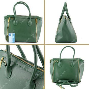 modamoda de - T44 -  ital Handtasche aus Echt Leder  – Bild 9