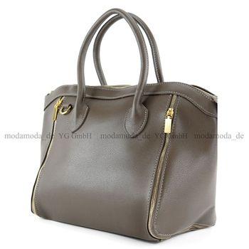 modamoda de - T44 -  ital Handtasche aus Echt Leder  – Bild 12
