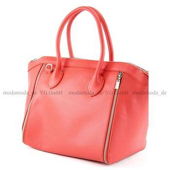 modamoda de - T44 -  ital Handtasche aus Echt Leder  – Bild 18
