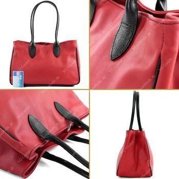 modamoda de - T51 -  ital Handtasche aus Leder Nappaleder  – Bild 23
