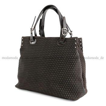modamoda de - T49 -  ital Handtasche aus Wildleder  – Bild 2