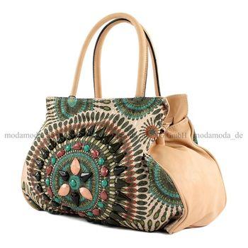 Lookat – Handtasche Mexicostyle Lederimitat LK138064 – Bild 6