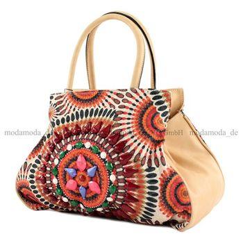 Lookat – Handtasche Mexicostyle Lederimitat LK138064 – Bild 8