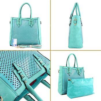 Lookat – Handtasche aus Lederimitat LK138047 – Bild 15