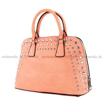 Lookat - Damen Handtasche in Lederimitat LK138074 – Bild 12