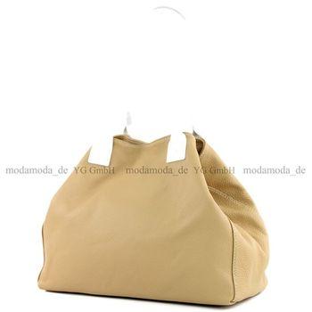 modamoda de - T60 -  ital Damen Schultertasche aus Leder Groß  – Bild 19