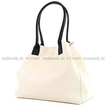 modamoda de - T60 -  ital Damen Schultertasche aus Leder Groß  – Bild 24