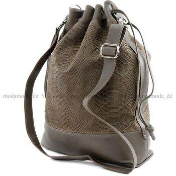 modamoda de -T100 - ital Handtasche Echt Nappaleder  – Bild 8