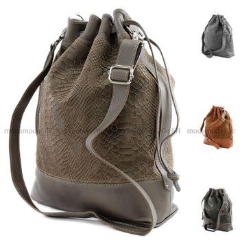 modamoda de - ital Handtasche Echt Nappaleder T100